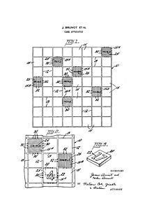 USA Patent Scrabble Board Game 1950's Drawings