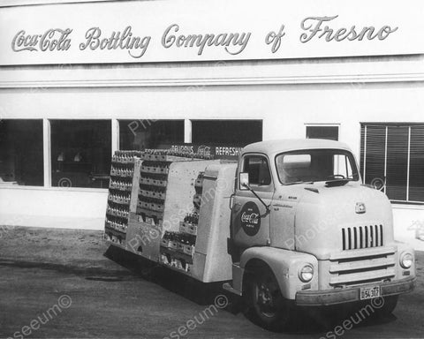 Coca Cola Fresno Truck Vintage 8x10 Reprint Of Old Photo