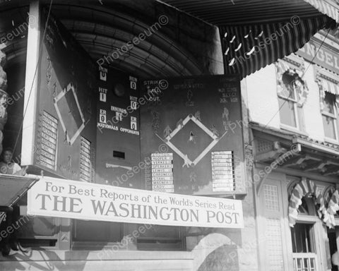 Electric Baseball Scoreboard 1912 Vintage 8x10 Reprint Of Old Photo