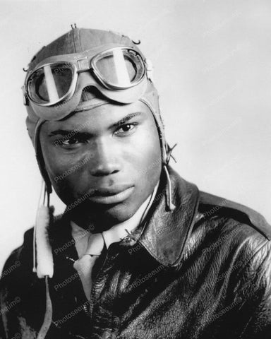 African American Pilot Tuskegee Airmen WWII 8x10 Reprint Of Old Photo - Photoseeum