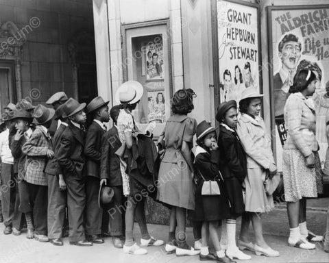 Young Black Children Dressed Up In Line 8x10 Reprint Of Old Photo