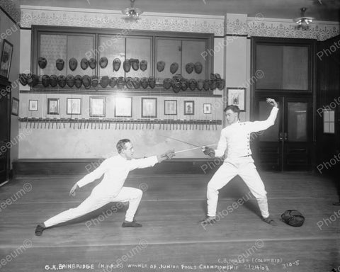 Bainbridge Athletic Club Fencing Winner 1908 Vintage 8x10 Reprint Of Old Photo