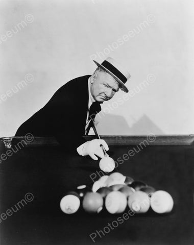 WC Fields Plays Pool Billiards 1900s 8x10 Reprint Of Old Photo
