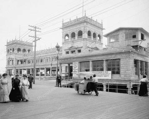 Youngs Million Dollar Pier1905 Vintage 8x10 Reprint Of Old Photo - Photoseeum