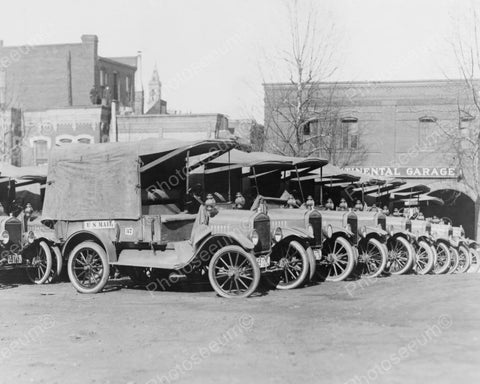 U.S Mail Delivery Truck Fleet 1900s 8x10 Reprint Of Old Photo