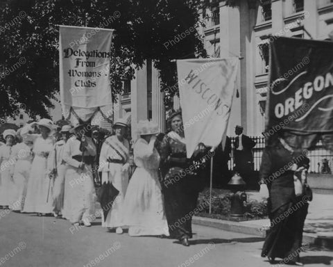 Women's Suffrage Demonstration Vintage 8x10 Reprint Of Old Photo - Photoseeum