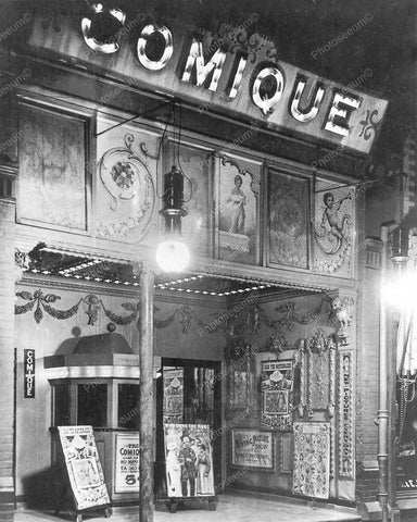 Comique Nickelodeon Theater Toronto Ontario 1910 Vintage 8x10 Reprint Old Photo