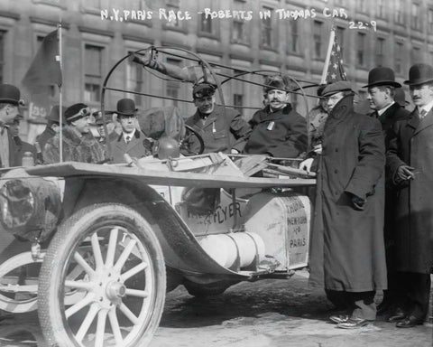 Auto Car Ready To Race 1908 Vintage 8x10 Reprint Of Old Photo - Photoseeum