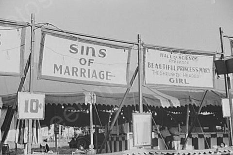 Florida Fair Sins of Marriage Side Show 4x6 Reprint Of Old Photo