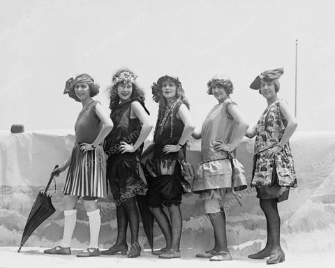 Beauty Contestants Line Up 1922 Vintage 8x10 Reprint Of Old Photo