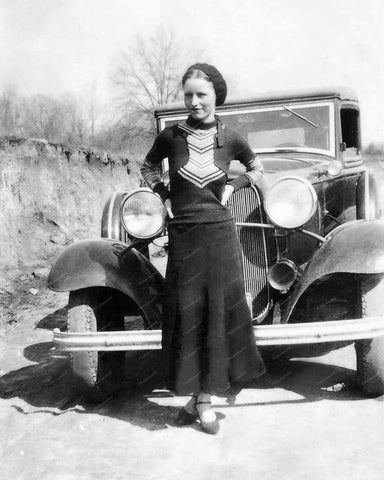 Bonnie Parker Ford 1932 Vintage 8x10 Reprint Of Old Photo
