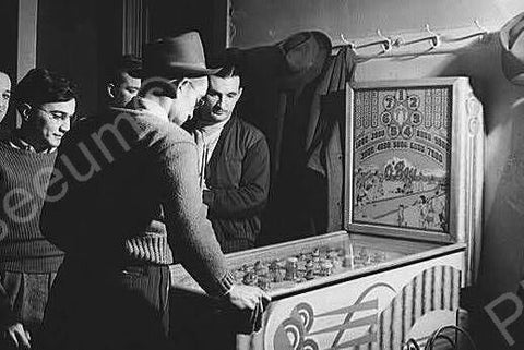 Chicago Coin Oh Boy Pinball Game 4x6 Reprint Of Old Photo 1940s