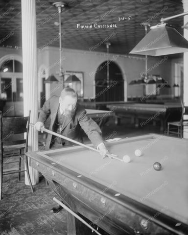 French Billiards Champ Cassignol 1890s 8x10 Reprint Of Old Photo 3