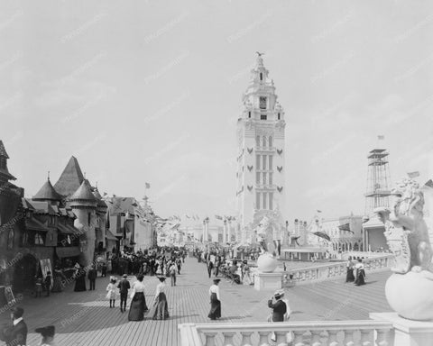 Dreamland Street Coney Island NY 1900s 8x10 Reprint Of Old Photo