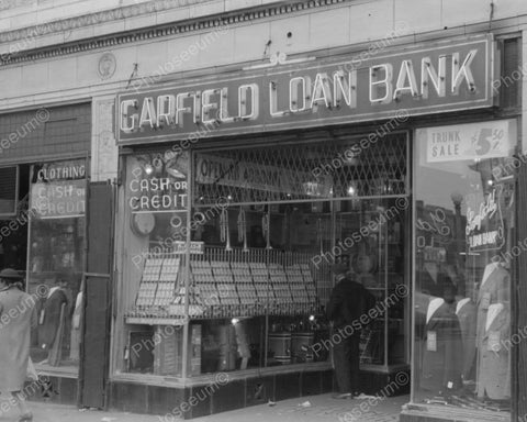 Garfield Pawn Shop 1941 Vintage 8x10 Reprint Of Old Photo