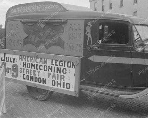 American Legion Street Fair Truck Vintage 8x10 Reprint Of Old Photo