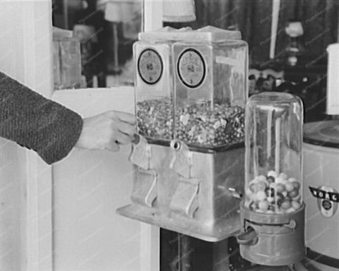 Gumball Penny Vending Machines 1930s 8x10 Reprint Of Old Photo