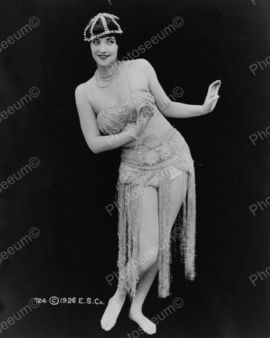 Dancer In Skimpy Jeweled Outfit  Vintage 1920s Reprint 8x10 Old Photo