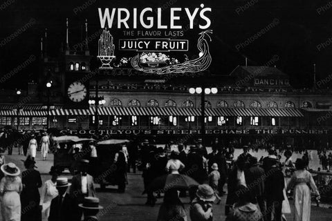 Atlantic City Wrigleys Billboard 1920s 4x6 Reprint Of Old Photo