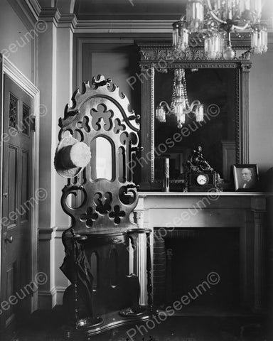 Antique Furniture Hat And Umbrella Stand 8x10 Reprint Of Old Photo - Photoseeum