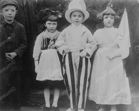 Vintage Children In Dress Up Costumes! 8x10 Reprint Of Old Photo - Photoseeum