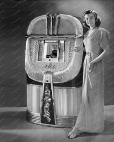 AMI Model A Jukebox Mother Of Plastic 8x10 Reprint Of Old Photo