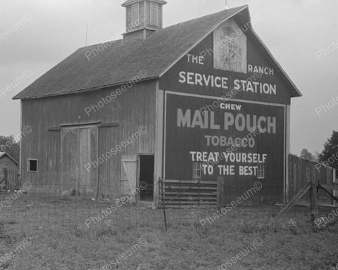 Barn Sign The Ranch Service Station 1938 Vintage 8x10 Reprint Of Old Photo