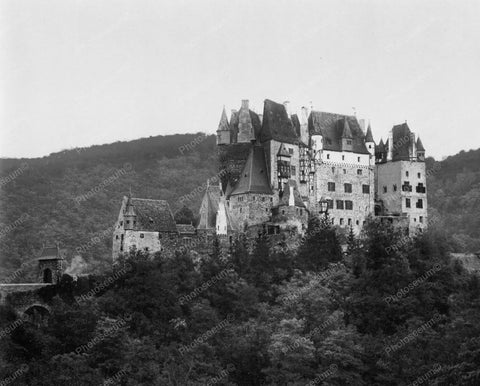 Castle Eltz Medieval Mosel Germany 8x10 Reprint Of Old Photo