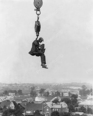 Camera Man On Crane 1930s Vintage 8x10 Reprint Of Old Photo