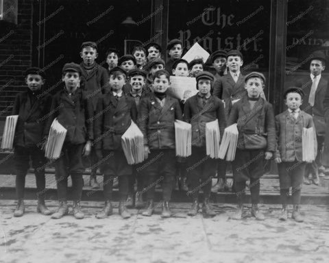 Young Newspaper Boys New York 1900s 8x10 Reprint Of Old Photo