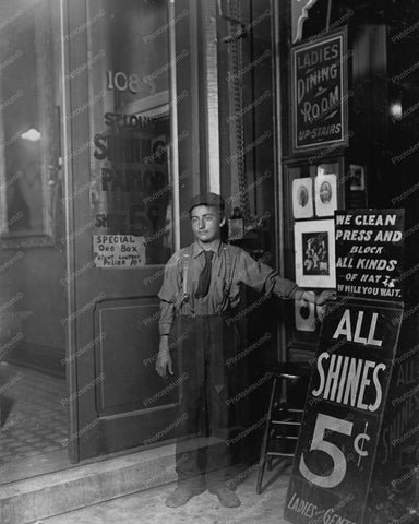 All Shoe Shines 5 cents Early 1900s 8x10 Reprint Of Old Photo - Photoseeum