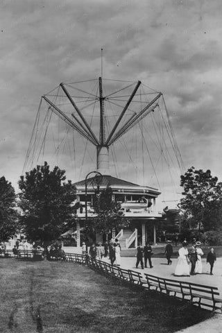 Willow Grove Park Pa Airships 1900s 4x6 Reprint Of Old Photo