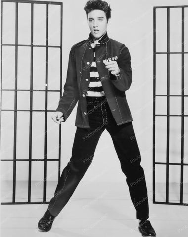 Elvis Presley On Stage Jail House Rock 8x10 Reprint Of Old Photo