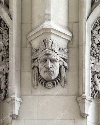 Indian Sculpture On Woolworth Building 8x10 Reprint Of Old  Photo