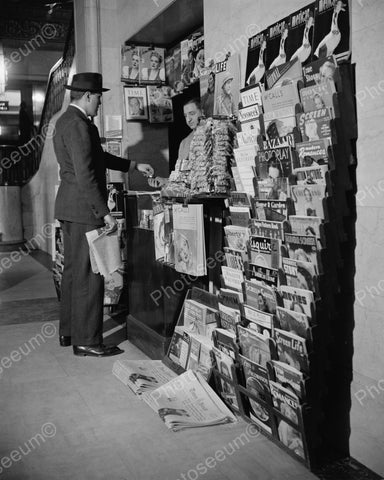 Newstand Various Magazines 1940 Vintage 8x10 Reprint Of Old Photo