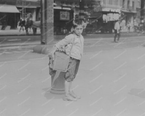 Bootblack Shoe Shine Boy NY City Vintage 8x10 Reprint Of Old Photo