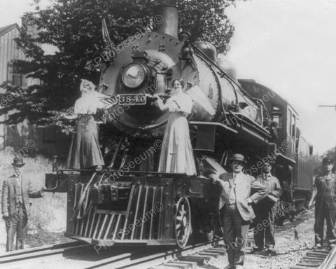 Ladies Pose On Locomotive Train 1900s! 8x10 Reprint Of Old Photo - Photoseeum