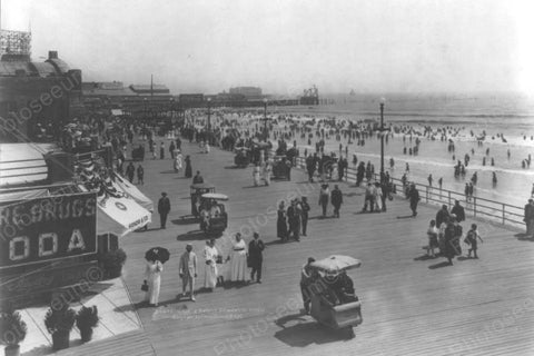 Atlantic City NJ Beach & Boardwalk 4x6 1900s Reprint Of Old Photo