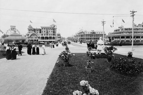 Asbury Park NJ Street Scene 1920s 4x6 Reprint Of Old Photo - Photoseeum