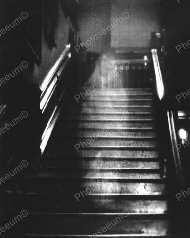 Ghost Appearing On Steps 8x10 Reprint Of Old Photo