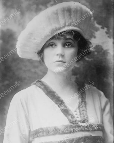 Victorian Girl In Beret With Doe Eyes 8x10 Reprint Of Old Photo