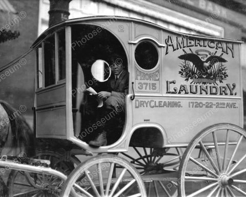 American Laundry Co Antique Truck 1900s 8x10 Reprint Of Old Photo