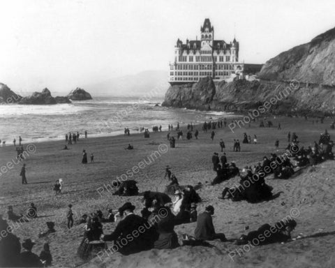 Breathtaking Cliff House Castle By Sea 8x10 Reprint Of Old Photo - Photoseeum