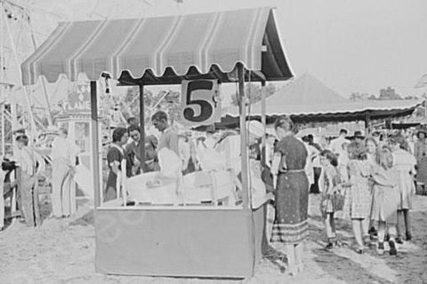 Florida State Fair 5 Cent Booth 4x6 1930s Reprint Of Old Photo