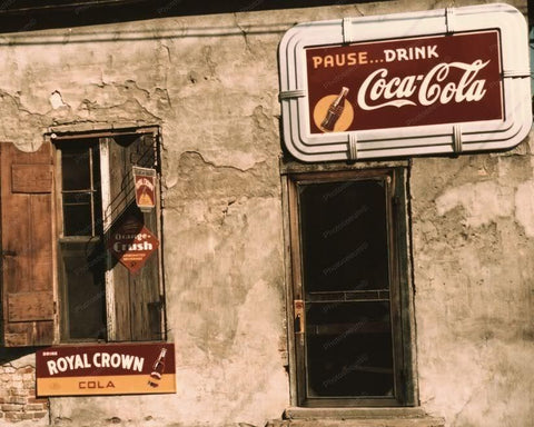 Cafe | Soda Signs | Coca Cola | Crush | 8x10 Reprint Of Old Photo - Photoseeum