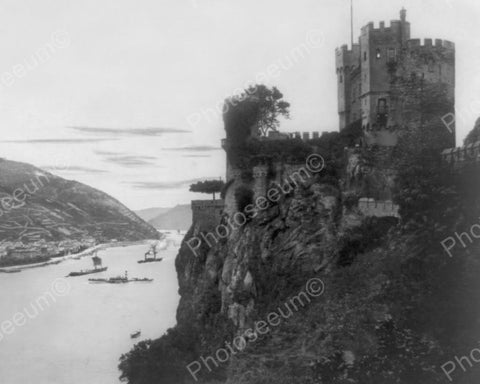 Assmannshausen Burg Rheinstein Castle Old 8x10 Reprint Of Photo