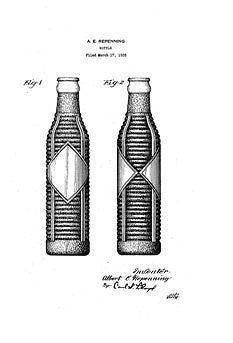 USA Patent Orange Crush Brown Bottle 1930s Drawings - Photoseeum