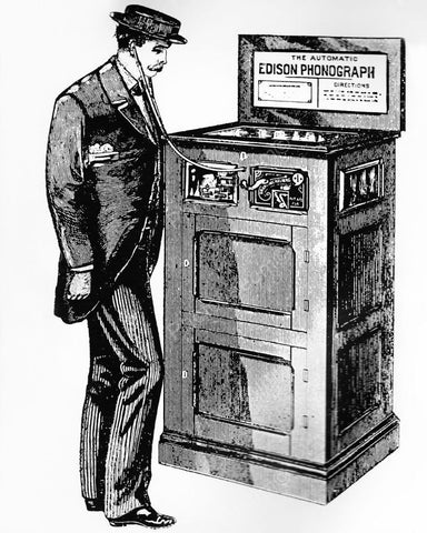 Artist Rendering Edison Automatic Phonograph 1891 8x10 Reprint Of Old Photo