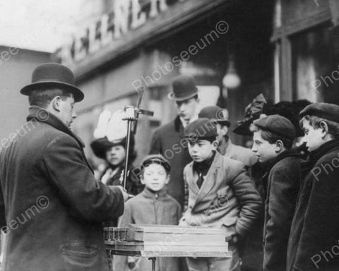 Christmas Toy Peddler 1910s  New York 8x10 Reprint Of Old Photo