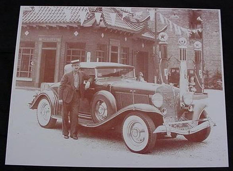Auburn Roadster Vintage Automobile Sepia Card Stock Photo 1930s